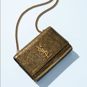 Saint Laurent Kate Metallic Crossbody